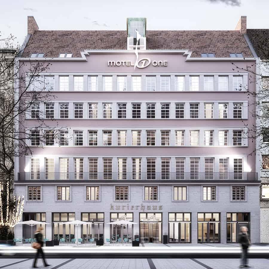 RTW Architekten MotelOne Ansicht Visu 2