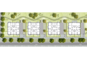 RTW Architekten Stadtvillen Lageplan 295x200