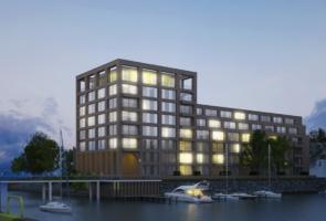 RTW Architekten Doktorsklappe Hafenseite bei Nacht 295x200
