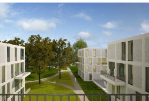 RTW Architekten Eichenpark Blick vom Balkon 295x200