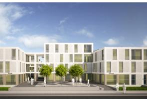 RTW Architekten Eichenpark Strassenansicht Frontal 295x200