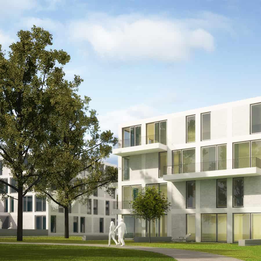 RTW Architekten Eichenpark Strassenansicht Garten1