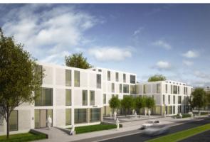 RTW Architekten Eichenpark Strassenansicht Perspektive 295x200