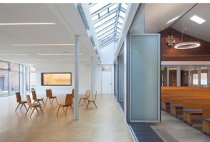 RTW Architekten Gemeindehaus GB Faltwand 295x200
