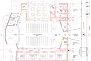 RTW Architekten Gemeindehaus GB Grundriss 295x200