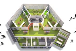 RTW Architekten Kita Waldheim Grundriss 295x200